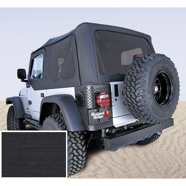 XHD Soft Top, Black, Tinted Windows, With Door Skins by Rugged Ridge ('97-'06 Jeep Wrangler TJ)