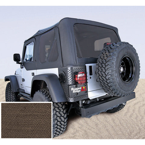 XHD Soft Top, Khaki, Tinted Windows, With Door Skins by Rugged Ridge ('97-'06 Jeep Wrangler TJ)