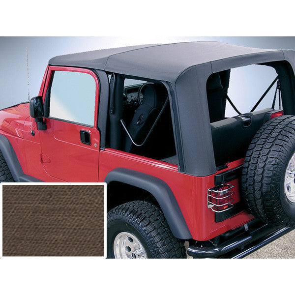 XHD Soft Top, Khaki, Clear Windows by Rugged Ridge ('97-'06 Jeep Wrangler TJ)