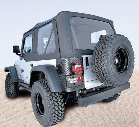 XHD Soft Top, Black Diamond, Tinted by Rugged Ridge ('04-'06 Jeep Wrangler TJ)