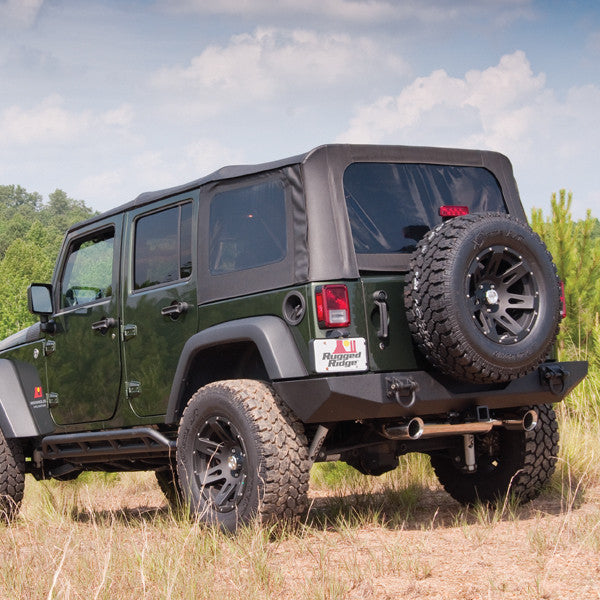 XHD Soft Top, Black, Tinted Windows by Rugged Ridge ('07-'09 Jeep Wrangler JKU)