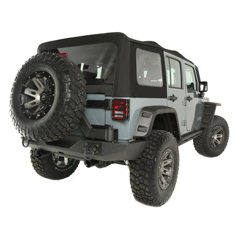 Soft Top, Black Diamond, Sailcloth by Rugged Ridge ('10-'18 Jeep Wrangler JKU)