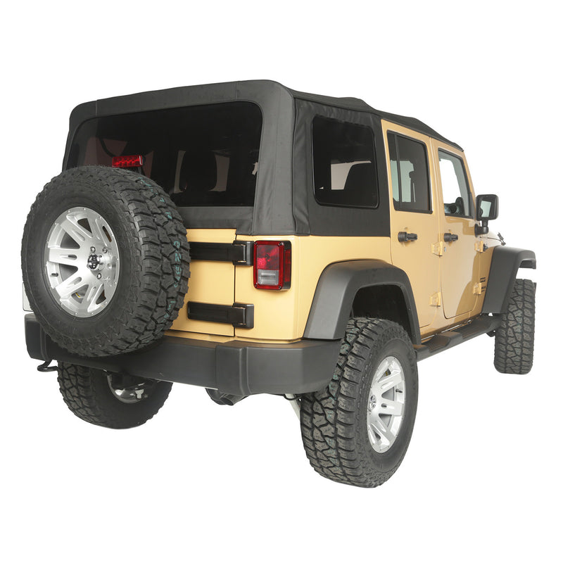 Soft Top, Black Diamond, Vinyl by Rugged Ridge ('10-'18 Jeep Wrangler JKU)