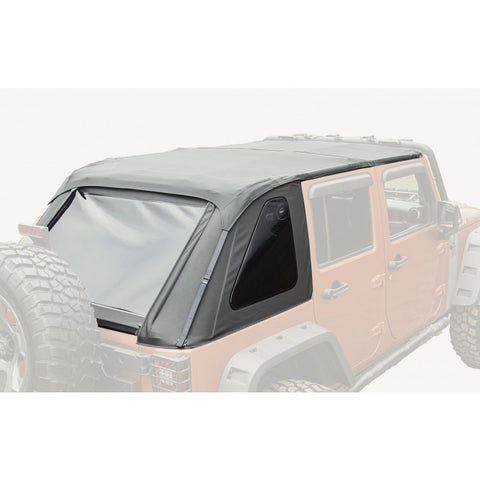 Bowless Top, Black Diamond, 4-Door by Rugged Ridge ('07-'18 Jeep Wrangler JKU)