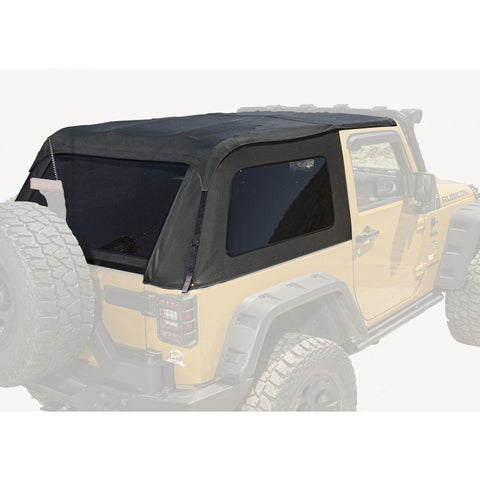 Bowless Top, Black Diamond, 2-Door by Rugged Ridge ('07-'18 Jeep Wrangler JK)