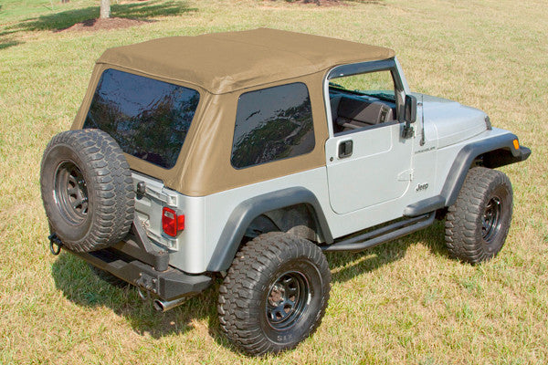 XHD Soft Top, Bowless, Spice, Sailcloth by Rugged Ridge ('97-'06 Jeep Wrangler TJ)