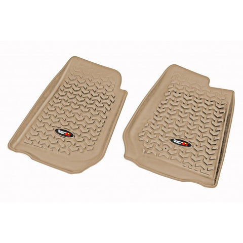 Floor Liners, Front, Tan by Rugged Ridge ('07-'17 Jeep Wrangler/JKU RHD)