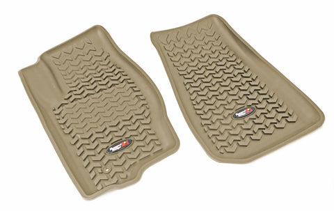 Floor Liners, Front, Tan by Rugged Ridge ('05-'10 Jeep Grand Cherokee WK, Commander XK)