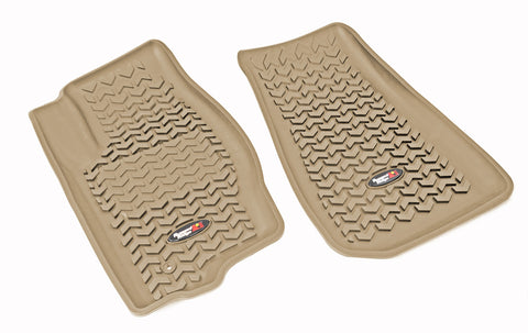 Floor Liners, Front, Tan by Rugged Ridge ('07-'12 Caliber /by Rugged Ridge ('07-'17 MK)