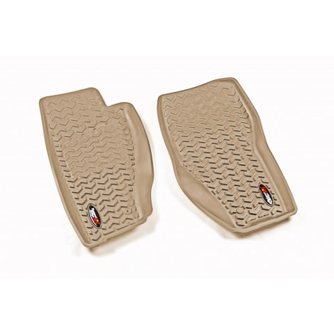 Floor Liners, Front, Tan by Rugged Ridge ('08-'12 Jeep Liberty KK)