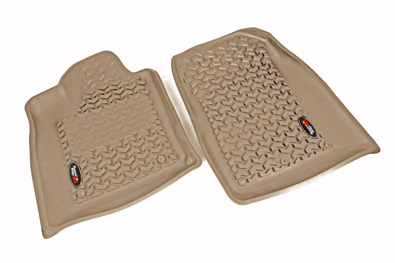 Floor Liners, Front, Tan by Rugged Ridge ('12-'18 Jeep Grand Cherokee WK)