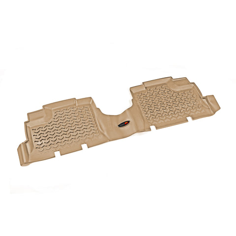 Floor Liner, Rear, Tan by Rugged Ridge ('07-'18 Jeep Wrangler JKU)