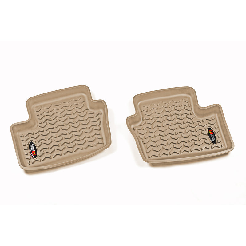 Floor Liners, Rear, Tan by Rugged Ridge ('07-'18 Patriot MK) - Jeep World