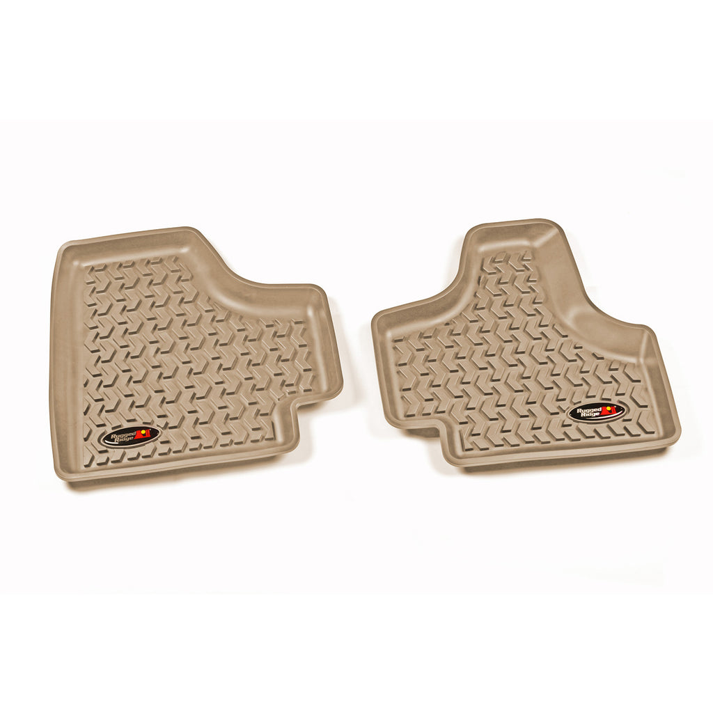 Floor Liners, Rear, Tan by Rugged Ridge ('08-'12 Jeep Liberty KK) - Jeep World