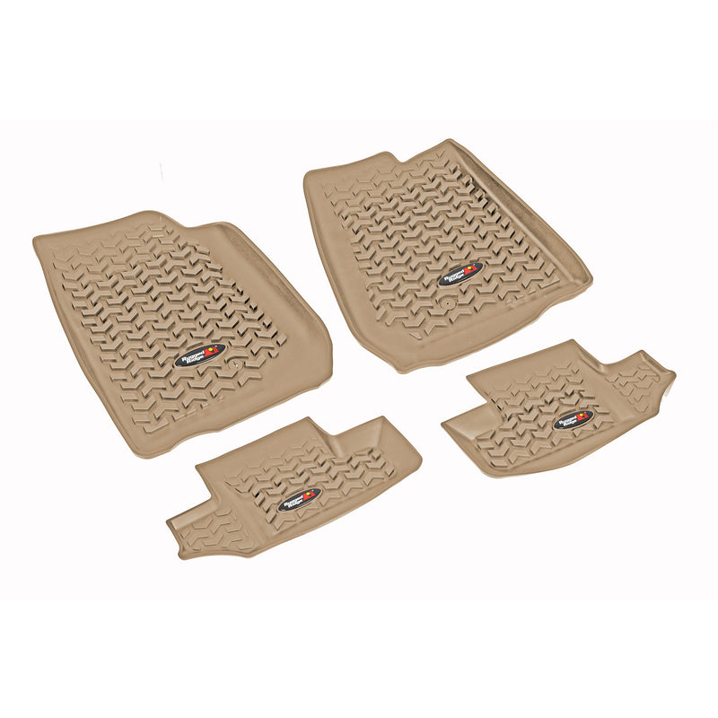 Floor Liners, Kit, Tan by Rugged Ridge ('07-'18 Jeep Wrangler JK)