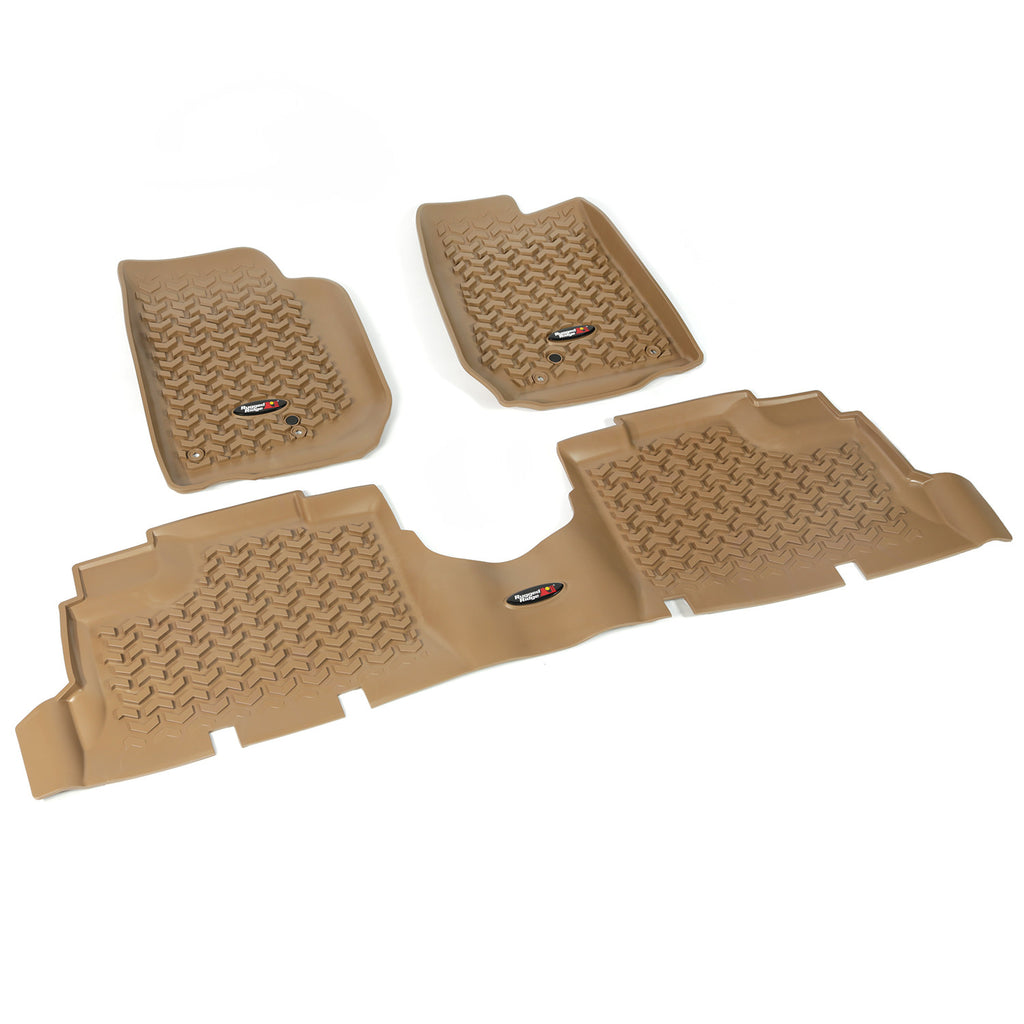 Floor Liners, Kit, Tan, 4-Door by Rugged Ridge ('07-'18 Jeep Wrangler JK) - Jeep World