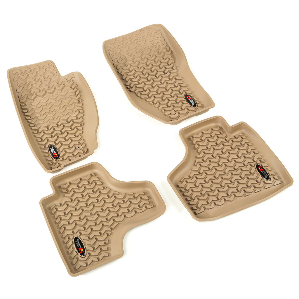 Floor Liners, Tan, Front/Rear by Rugged Ridge ('08-'13 Jeep Liberty KK) - Jeep World