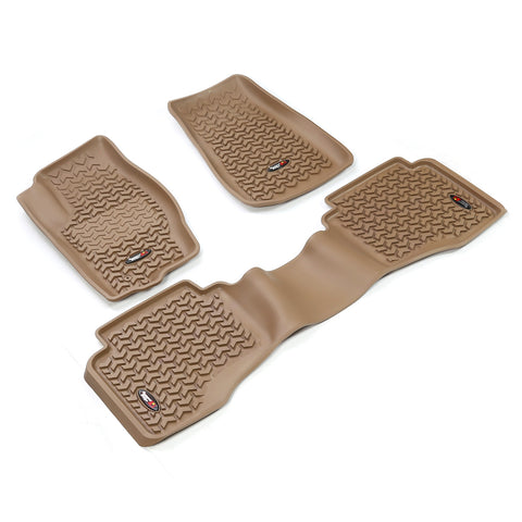 Floor Liners, Kit, Tan by Rugged Ridge ('05-'10 Grand Cherokee WK, Commander XK)