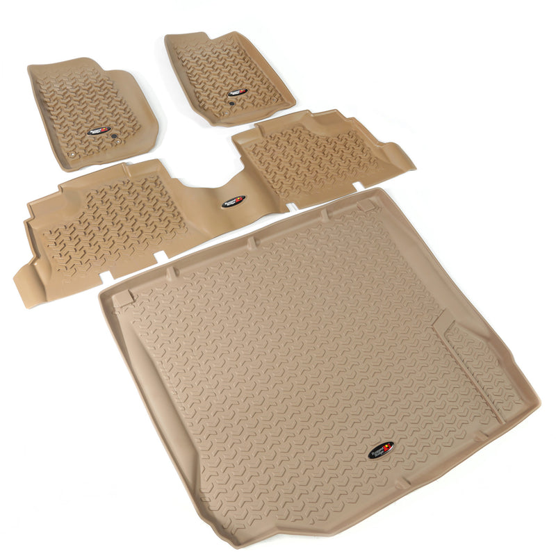Floor Liners, Kit, Tan, 2-Door by Rugged Ridge ('07-'10 Jeep Wrangler JK) - Jeep World