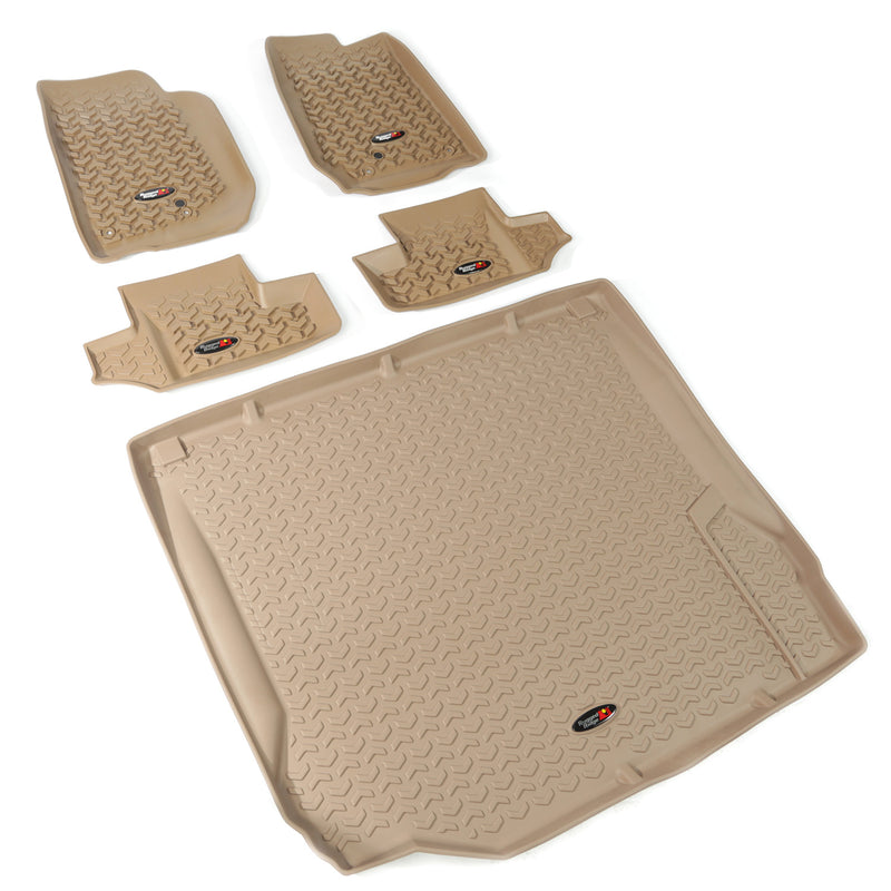Floor Liners, Kit, Tan, 4-Door by Rugged Ridge ('07-'10 Jeep Wrangler JK) - Jeep World