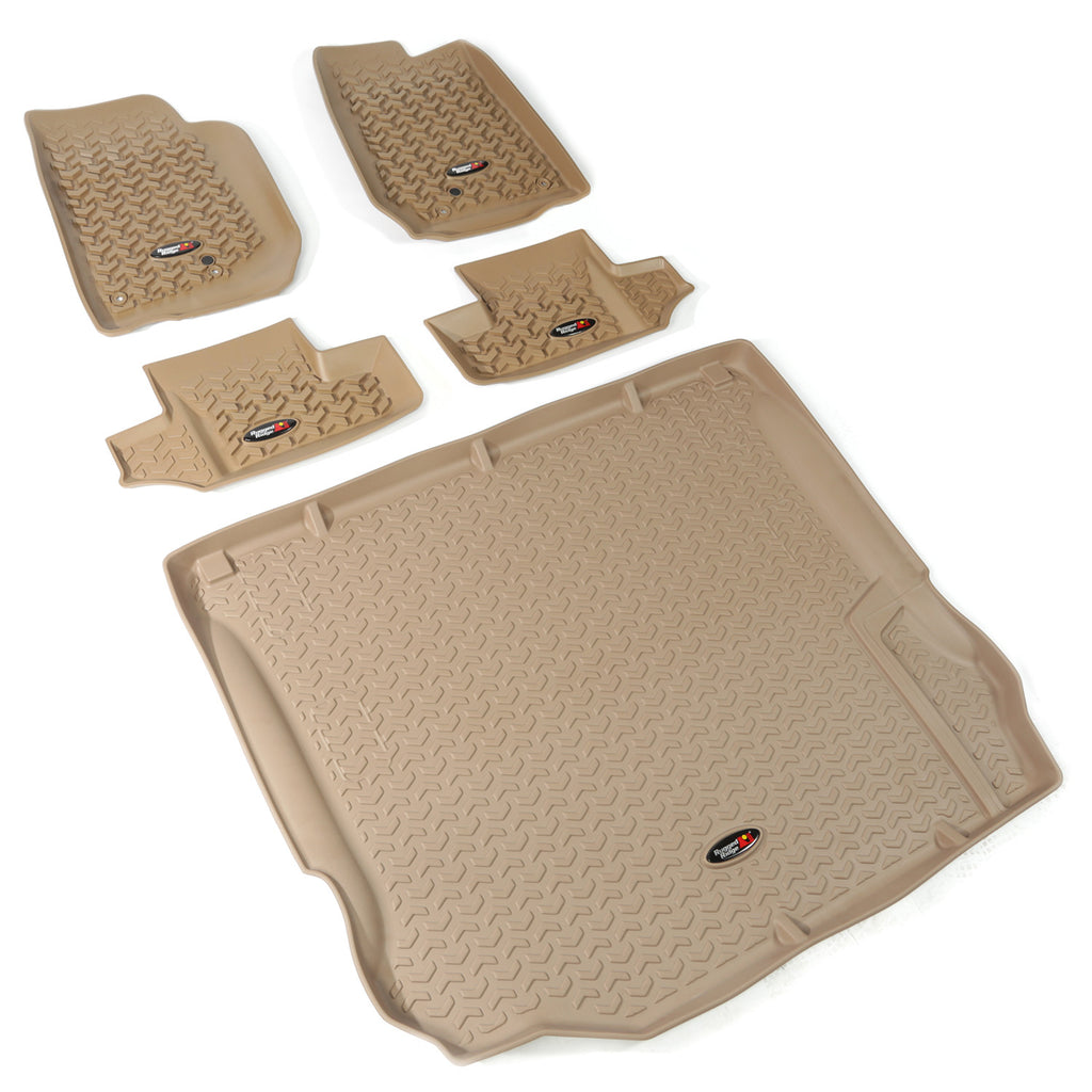 Floor Liners, Kit, Tan, 2-Door by Rugged Ridge ('11-'18 Jeep Wrangler JK) - Jeep World