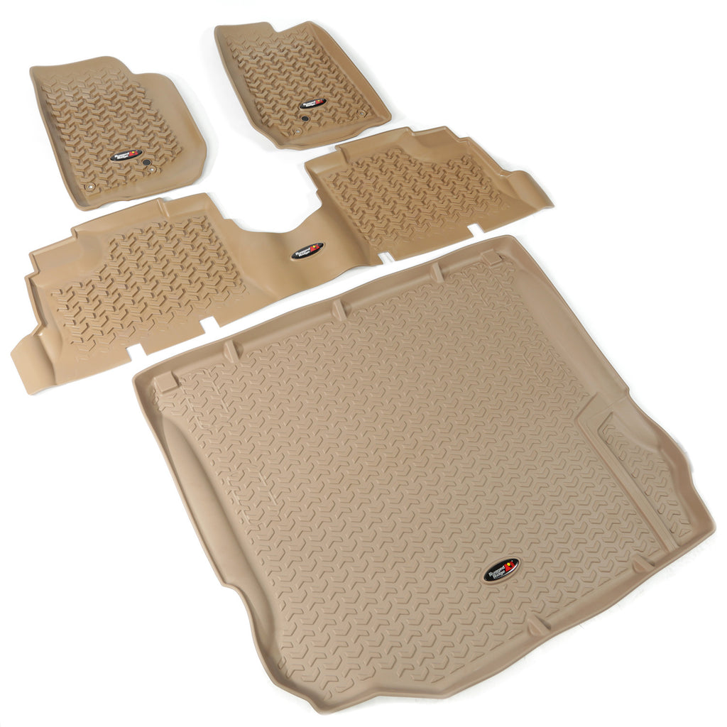 Floor Liners, Kit, Tan, 4-Door by Rugged Ridge ('11-'18 Jeep Wrangler JK) - Jeep World