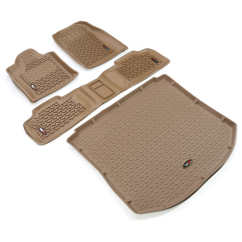 Floor Liners, Kit, Tan by Rugged Ridge ('11-'18 Jeep Grand Cherokee WK) - Jeep World