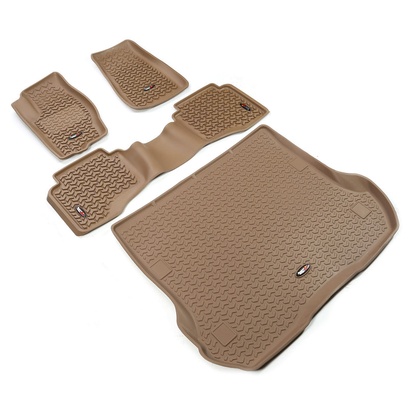 Floor Liners, Kit, Tan by Rugged Ridge ('05-'10 Grand Cherokee WK)