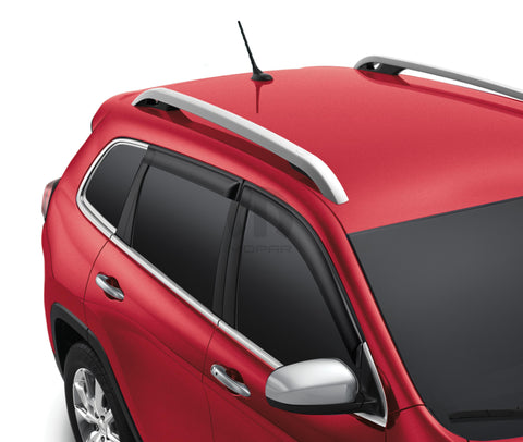 Side Window Air Deflectors With Black Window Molding by Mopar ('14-'18 Cherokee KL)