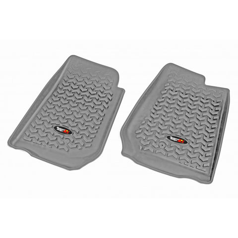 Floor Liners, Front, Gray, RHD by Rugged Ridge ('07-'17 Jeep Wrangler JK/JKU)