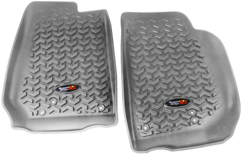 Floor Liners, Front, Gray by Rugged Ridge ('07-'18 Jeep Wrangler JK)