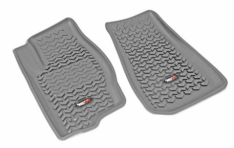 Floor Liners, Front, Gray by Rugged Ridge ('05-'10 Jeep Grand Cherokee WK, Commander XK)