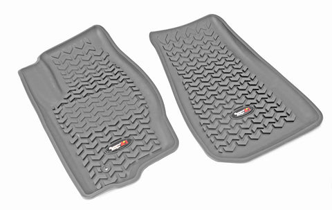 Floor Liners, Front, Gray by Rugged Ridge ('07-'12 Caliber /by Rugged Ridge ('07-'17 MK)