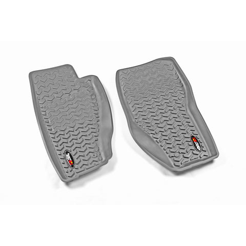 Floor Liners, Front, Gray by Rugged Ridge ('08-'12 Jeep Liberty KK)