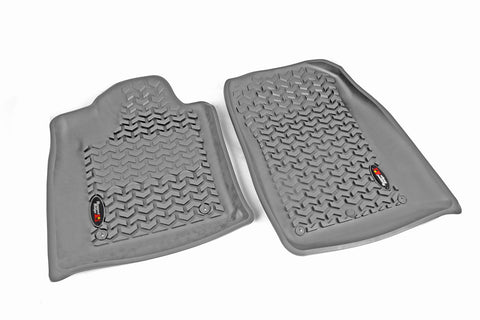 Floor Liners, Front, Gray by Rugged Ridge ('12-'17 Dodge Durango/Jeep Grand Cherokee WK)