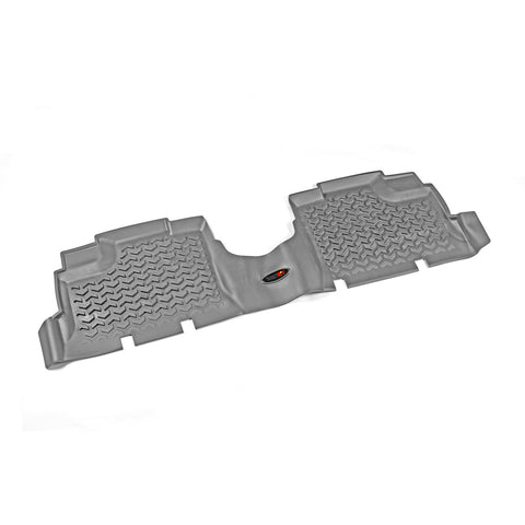 Floor Liner, Rear, Gray by Rugged Ridge ('07-'18 Jeep Wrangler JKU)
