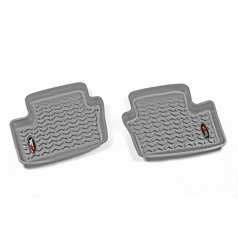 Floor Liners, Rear, Gray by Rugged Ridge ('07-'18 Patriot MK)