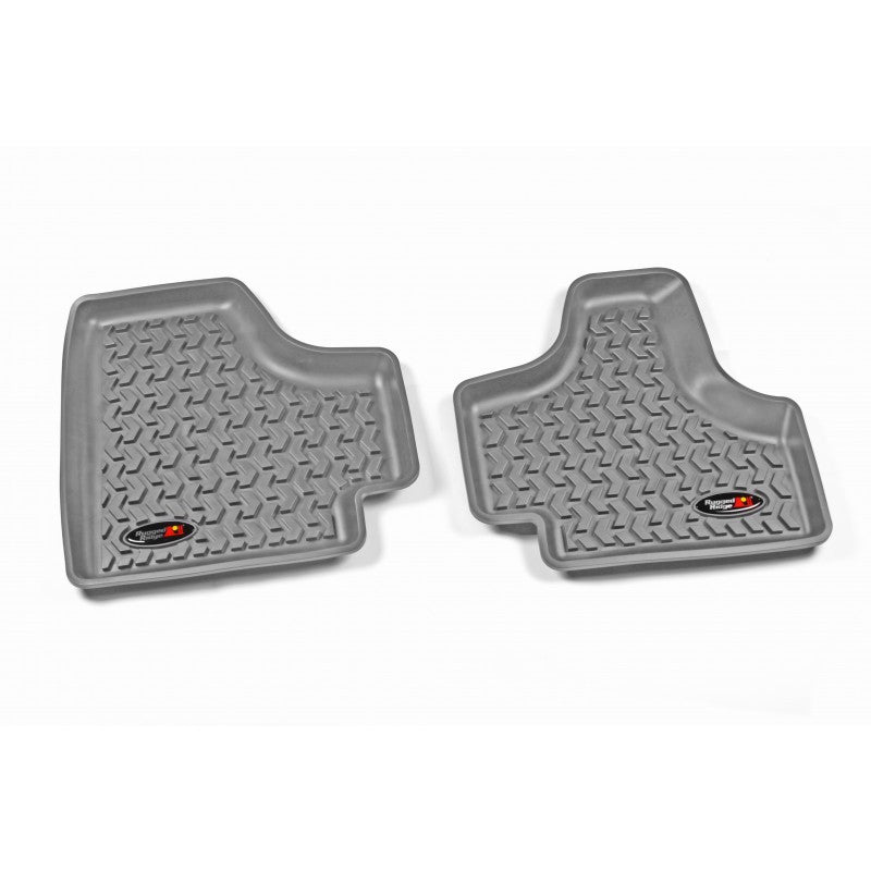 Floor Liners, Rear, Gray by Rugged Ridge ('08-'12 Jeep Liberty KK) - Jeep World
