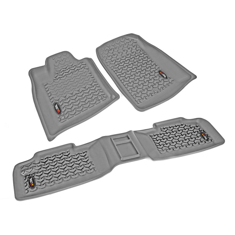 Floor Liners, Kit, Gray by Rugged Ridge ('11-'18 Jeep Grand Cherokee WK)