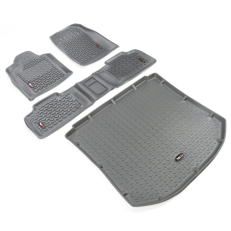 Floor Liners, Kit, Gray by Rugged Ridge ('11 Jeep Grand Cherokee WK)