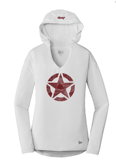 Women's Topographic Star Hooded Tee by Jeep