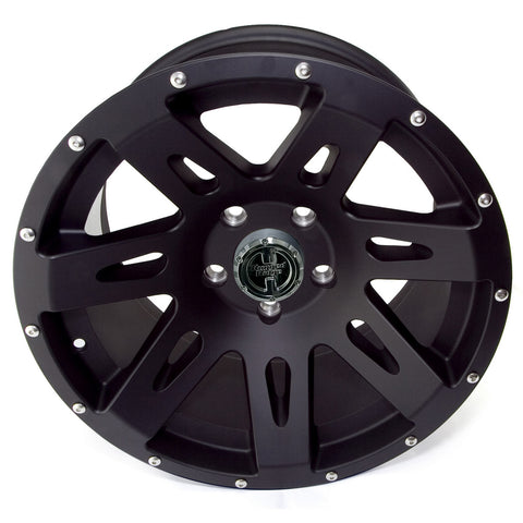 XHD Wheel, 17x9, Black Satin by Rugged Ridge ('07-'17 Wrangler JK)