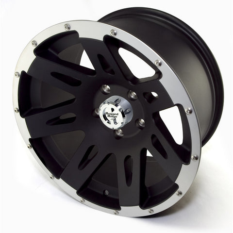 XHD Wheel, 18x9, Black with Machined Lip by Rugged Ridge ('07-'18 Wrangler JK)