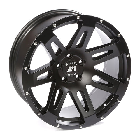 XHD Wheel, 20x9, Black Satin by Rugged Ridge ('07-'18 Wrangler JK)
