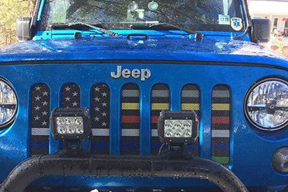 """Six for the Six"" Grille Insert by Dirty Acres ('76 - '19 Wrangler CJ, YJ, TJ, LJ, JK, JL)"