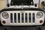 """Back the Blue"" Grille Insert by Dirty Acres ('76 - '18 Wrangler CJ, YJ, TJ, JK, JKU) - Jeep World"