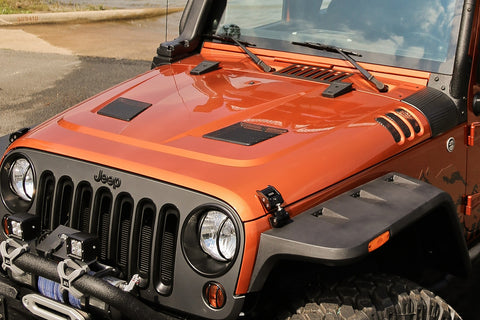 Performance Vented Hood by Rugged Ridge ('07-'18 Jeep Wrangler JK)