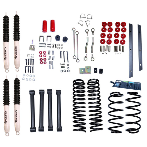 4-Inch Lift Kit with Shocks by Rugged Ridge ('97-'02 Wrangler TJ)