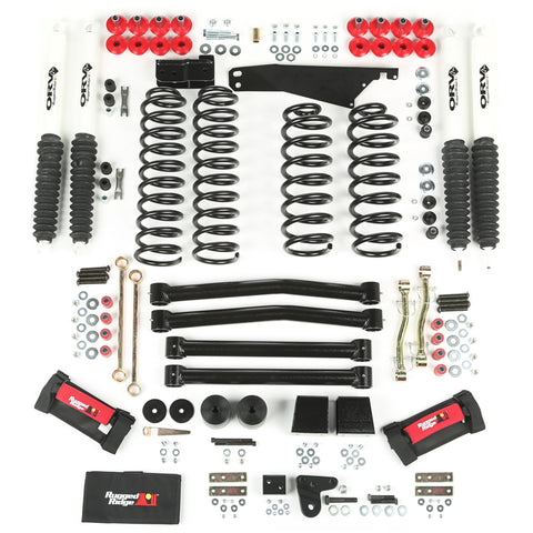 4-Inch Lift Kit with Shocks by Rugged Ridge ('07-'18 Wrangler JK)
