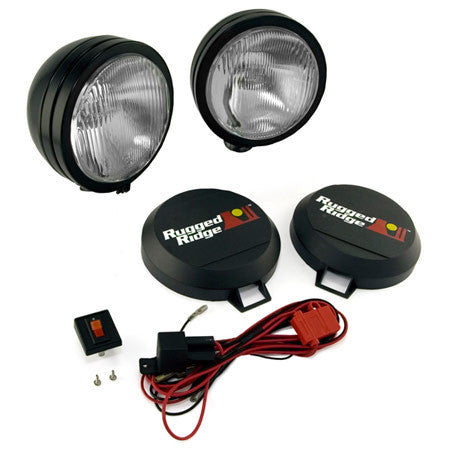 "Rugged Ridge HID Off Road 6"" Fog Light Kit, Set of 2 (Universal)"